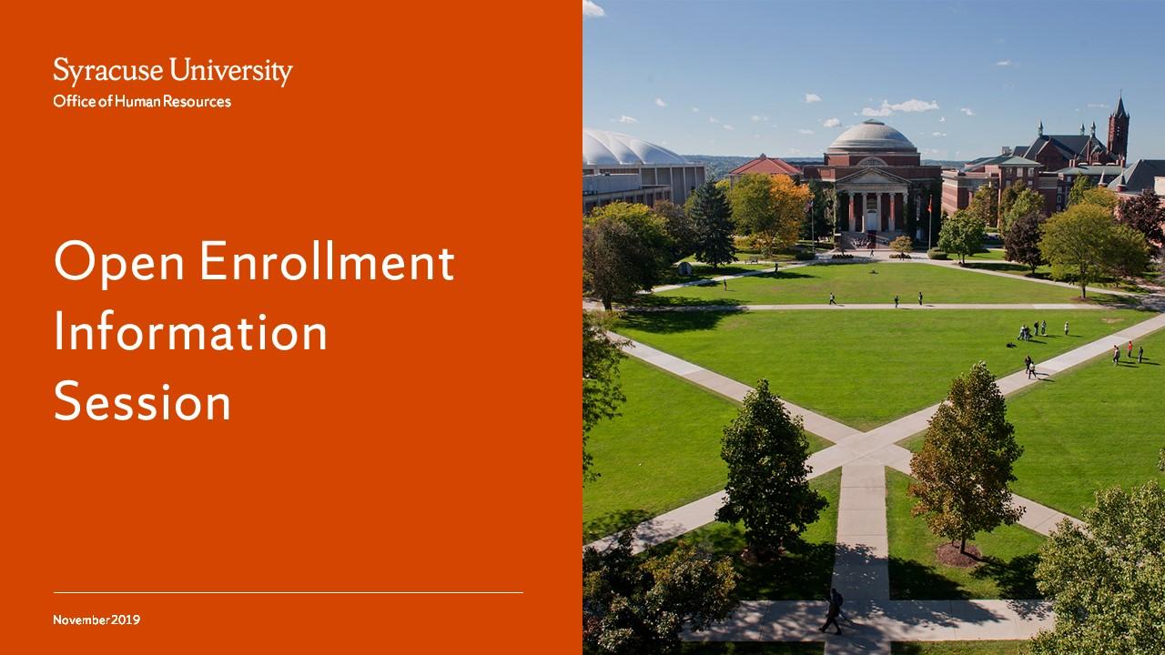 Open Enrollment Information Session Webinar screencap